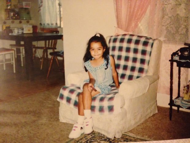 "Here's elementary school Pam modeling her newest shoes, featuring Esmeralda from The Hunchback of Notre Dame. She was my favorite ""Disney Princess"" - my mom never told me she wasn't an actual DP."